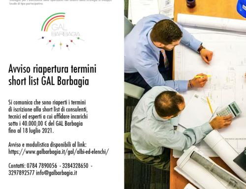 Avviso riapertura termini short list GAL Barbagia
