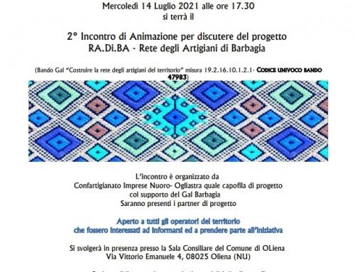 2° incontro d'animazione RA.Di.BA. – Rete degli Artigiani di Barbagia